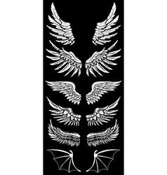 Wings set2 vector
