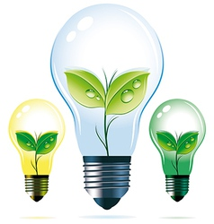 Eco lamps vector image