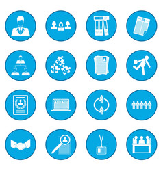 office teamwork icon blue vector image vector image