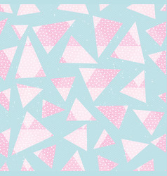 abstract pink color triagnles pattern vector image vector image