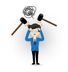 Business violence vector image vector image