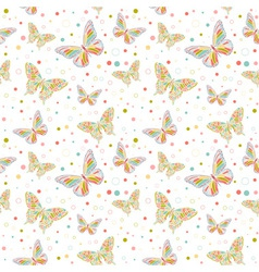 butterfly seamless big vector image vector image