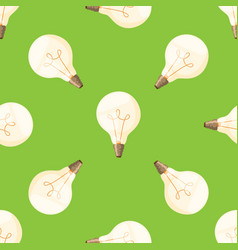 cartoon lamps light bulb seamless pattern vector image