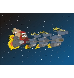 Christmas Series Santa in his deer sled vector image