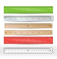 color school ruler plastic wooden metal vector image vector image