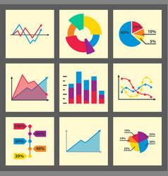 diagram chart graph elements business vector image vector image