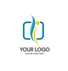 health coaching logo vector image vector image