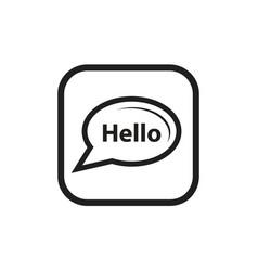 Talk bubble icon vector