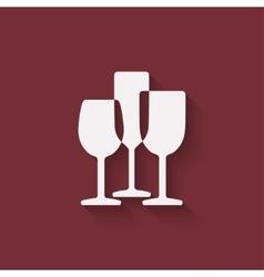 wine menu design element vector image vector image
