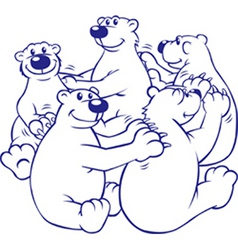 bears in a circle vector image