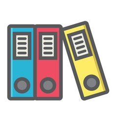 Binders colorful line icon business and folder vector