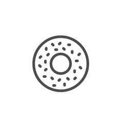 donut line icon vector image