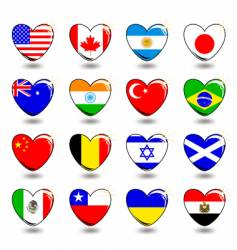 heart flags vector image