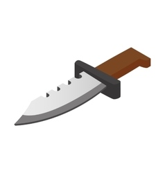 Hunting knife isometric 3d icon vector image