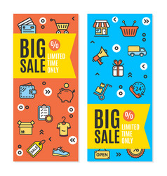 sale flyer banner posters card set vector image vector image