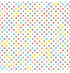 Seamless dotted pattern polka dot fabric vector image vector image
