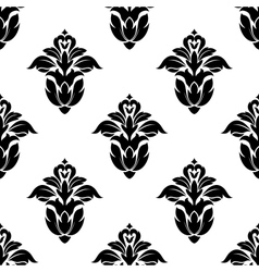 Seamless pattern of floral motifs vector image vector image