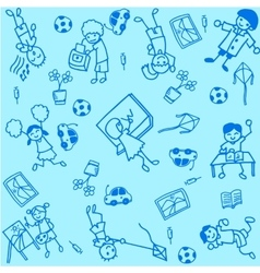 Student doodle art vector image