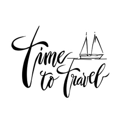 Time To Travel card vector image vector image