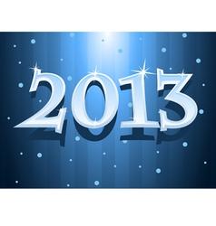 2013 blue background vector image