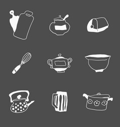 a small selection of everything for the kitchen vector image