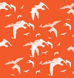 Abstract pattern of bird on the orange vector