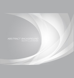 Abstract white curve light on grey design modern vector