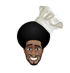 african men smiling chef vector image