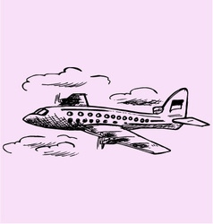 Airplane sky passenger airliner vector