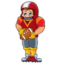 american football theme image 1 vector image