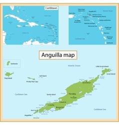 Anguilla map vector