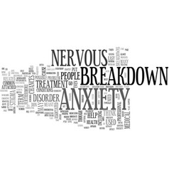 Anxiety and herbal remedies text word cloud vector