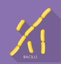 Bacilli icon flat style vector