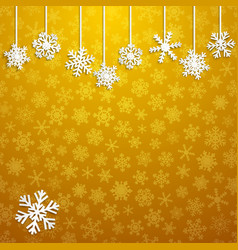 background with hanging snowflakes vector image