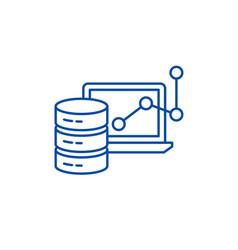 Big data framework line icon concept big data vector