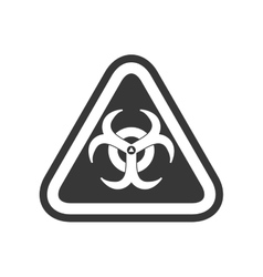 biohazard sign triangle warning icon vector image