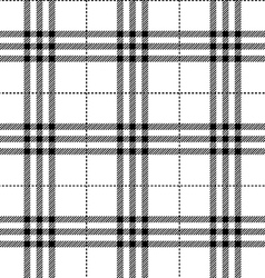 Black and white fabric texture tartan pattern vector