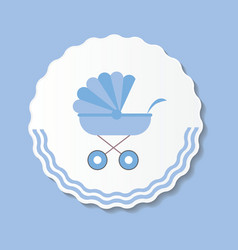 Blue Baby Carriage for vector