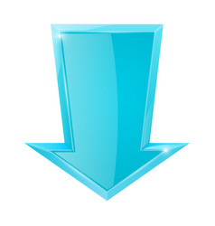 Blue down arrow vector