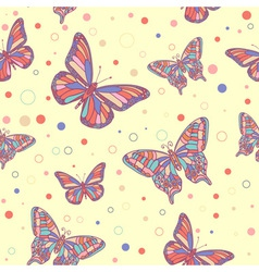 butterfly seamless yellow vector image