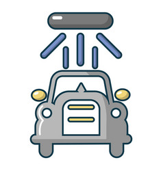 Car wash icon cartoon style vector