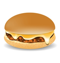 Cheddar burger vector