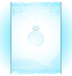 Christmas bauble panel background blue vector