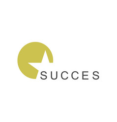 circle star succes logo vector image