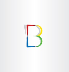 colorful logo b letter b symbol icon vector image
