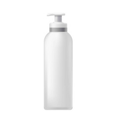 cosmetic bottle with dispenser vector image
