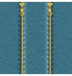 Denim background with zipper vector