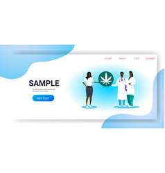 doctors offering medical marijuana to african vector image