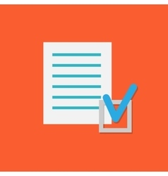 Document Check Icon vector
