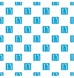 end of the strip pattern seamless vector image